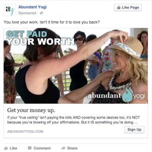 Abundant Yogi Facebook Ad | Love
