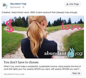 Abundant Yogi Facebook Ad | Pathways
